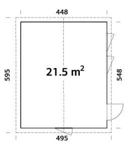 Plano de Caseta Nórdica CHARLOTTE 21,5