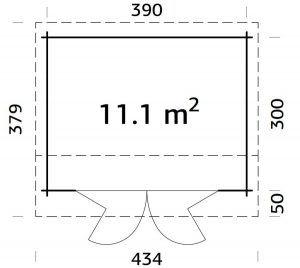 Plano de casitas de jardín CABAÑA INÉS 11,1