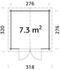 plano de trastero de madera RALF