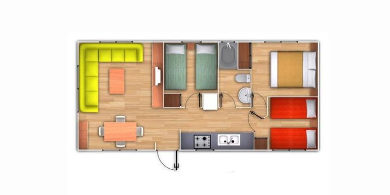 Casas Prefabricadas Hergohomes modelo Bermudas