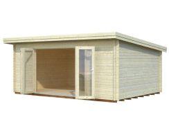 Casita de madera sólida, cabaña LEA 19,4 m²