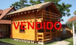 Oferta de venta cabaña madera maciza