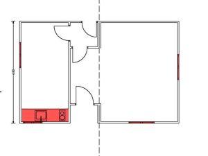 oficina usada prefabricada plano de planta