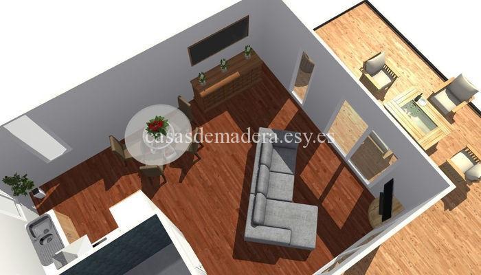 Casa prefabricada moderna 001 4 - Casa prefabricada moderna  M01