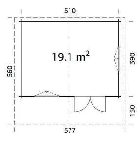 casa de madera 8 286x300 - Casas de madera Italfrom 19m2