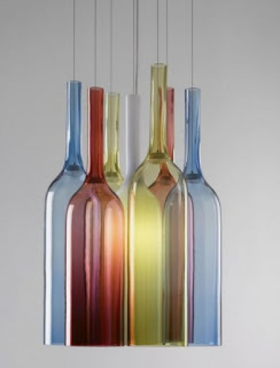03-Beautiful-Hanging-Lamp-Made-of-Colorful-Wine-bottle-like-Glass-600x799
