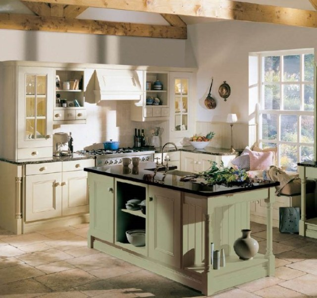 Country-Kitchen-Wall-with-rustic-interior-decoration-ideas