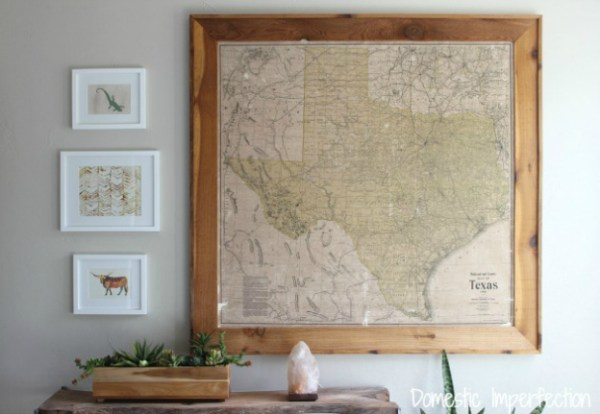 Large-antique-map-of-Texas-domestic-imperfection