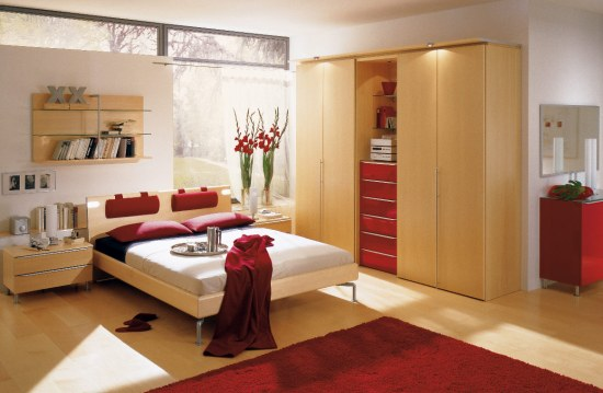 red-and-wood-bedroom