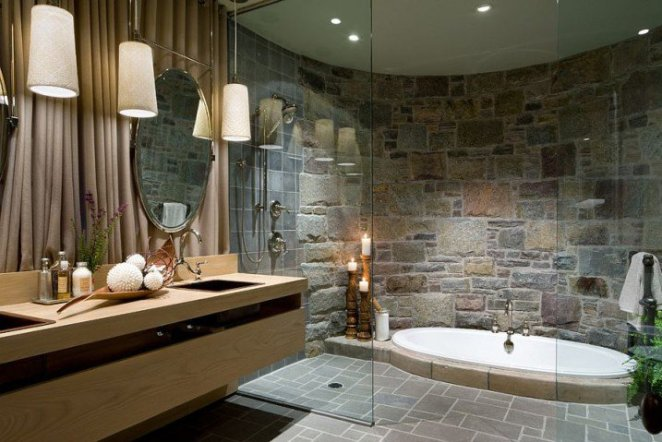 10-ad-opulent-bathroom-with-a-sunken-jacuzzi-and-a-curved-stone-wall-718x479