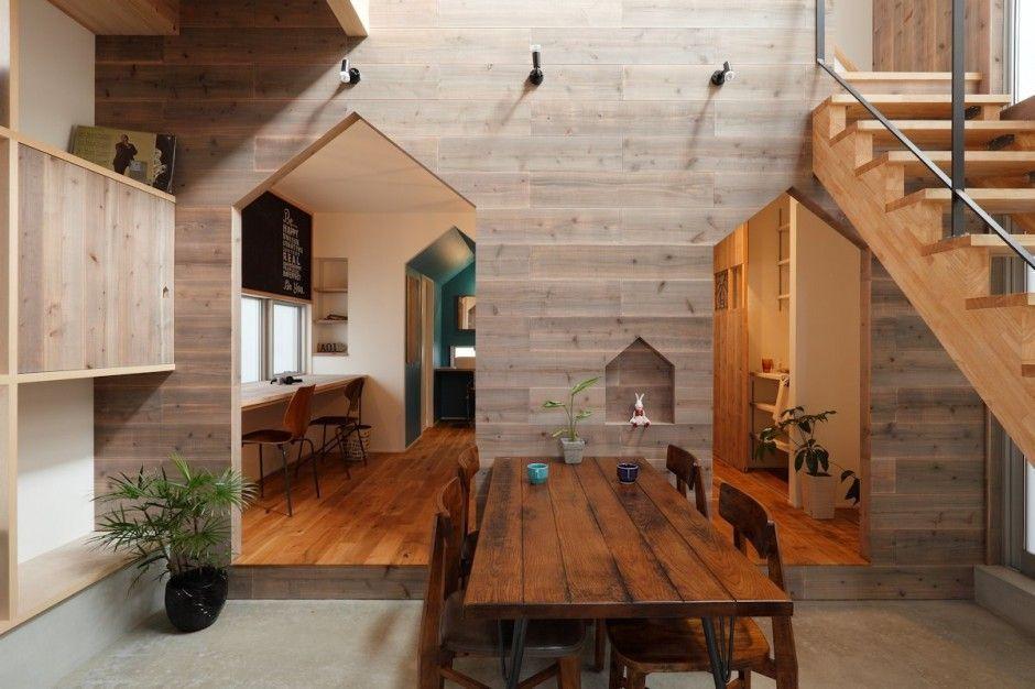 La casa Hazukashi espectacular diseo japons que mezcla