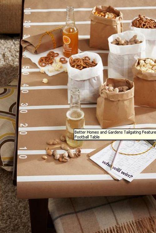 DIY divertidos y originales manteles con papel kraft  Casas Increbles