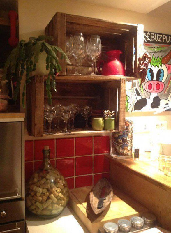 27 maneras de decorar tu casa utilizando cajas de madera