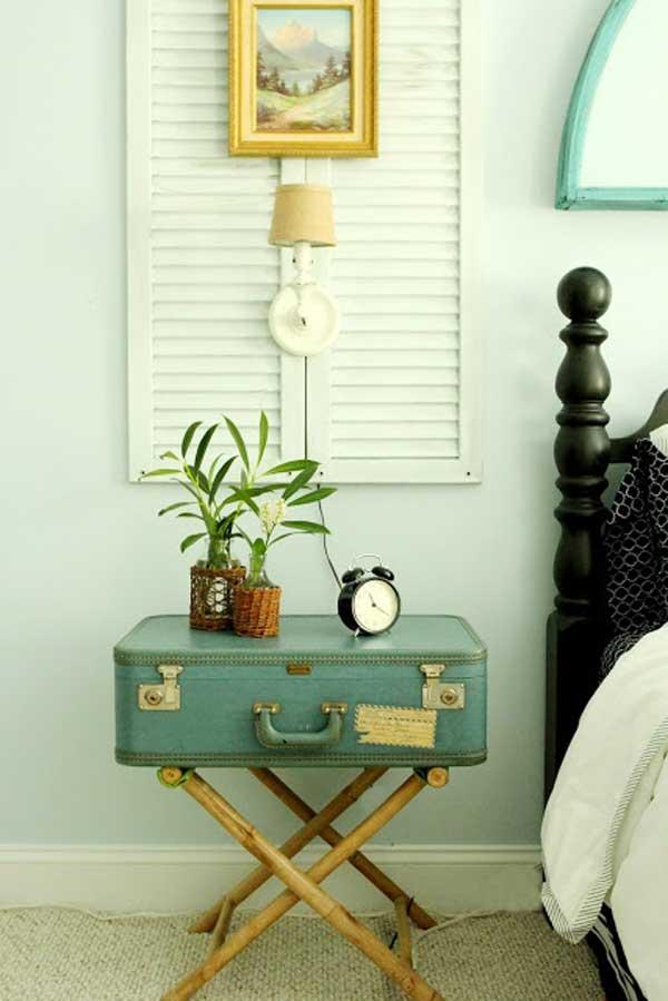 No sabes que hacer con las maletas viejas Te enseamos a decorar tu casa con ellas  Casas Increbles