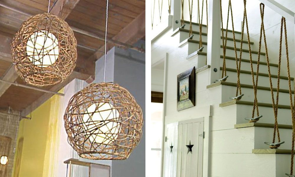22 ideas imprescindibles para decorar con cuerdas  Casas
