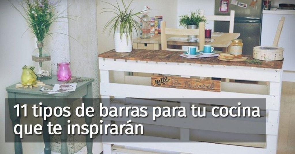No tienes que tener una cocina grande para poner una barra