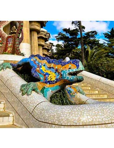 Park Guell, A. Gaudi, Barcelone