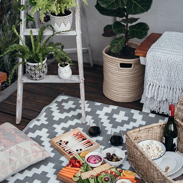 picnic en patio día de las madres