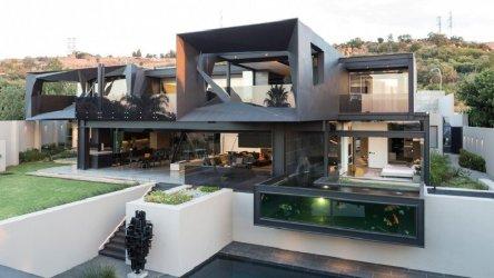 Fachadas de casas modernas en Johannesburgo Casa Kloof Road presentando una arquitectura moderna Casas y Fachadas