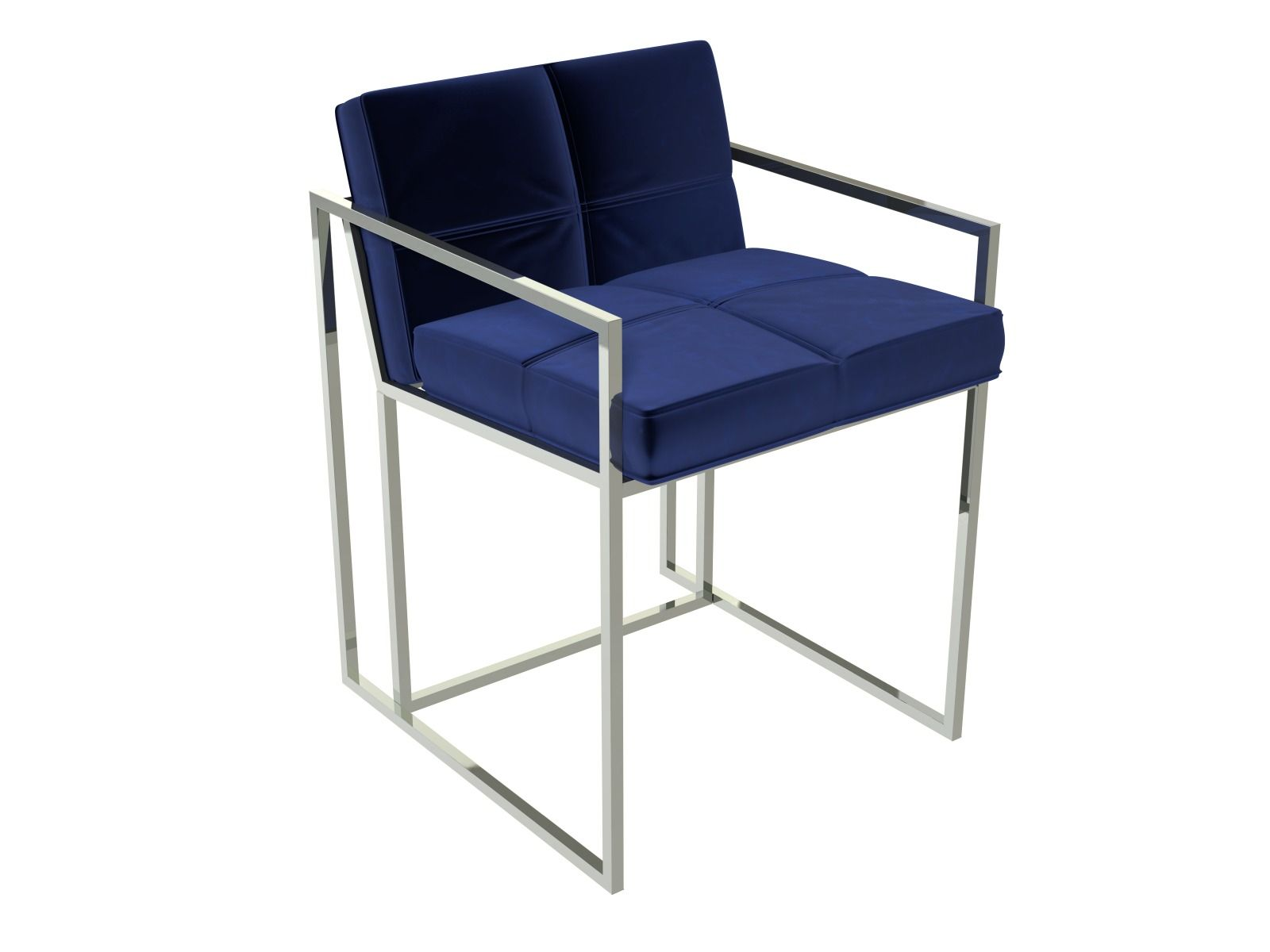 chrome dining chairs uk hanging chair riyadh estevan with midnight blue velvet