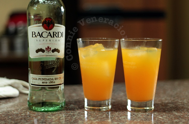 Orange pineapple and rum cocktail CASA Veneracion