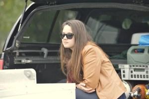 Alexia, fille de notre vice président, en visite ..