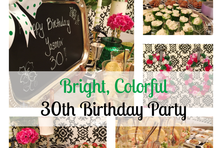 Colorful 30th Birthday Party