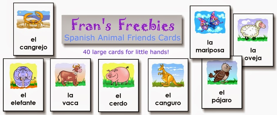 picture regarding Spanish Flashcards Printable referred to as Spanish Sabado #3: Products for Cost-free Spanish Printables