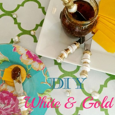 DIY White and Gold Painted Spreaders-Mother's Day Gift
