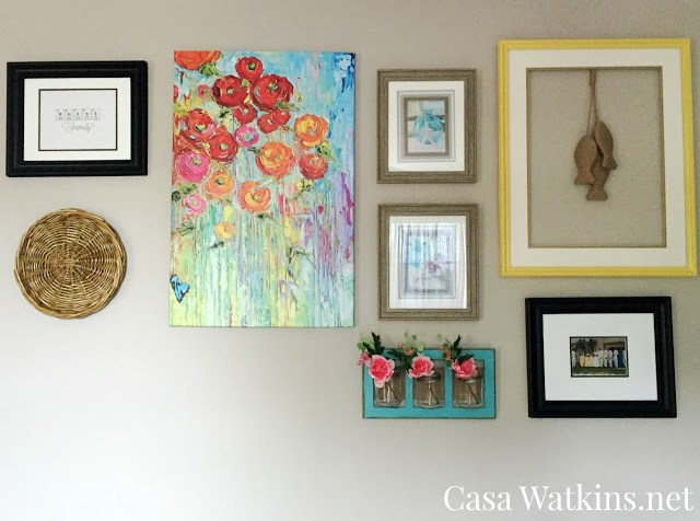Coastal Family Room Gallery Wall
