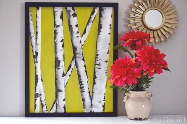 I Loved All The Wonderful Art Projects From The Hop And Link Party, But I  Decided To Recreate The Amazing Birch Tree Wall Art By April At Uncookie  Cutter ...