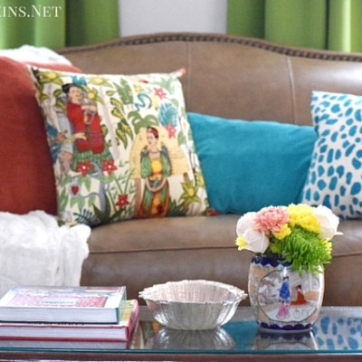 Global, Eclectic Living Room Makeover Reveal!