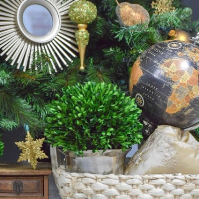 My Home Style: Green and Gold Global, Eclectic Christmas Tree