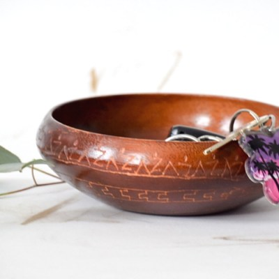 DIY Tribal Key Bowl from Thrift Store Bowls