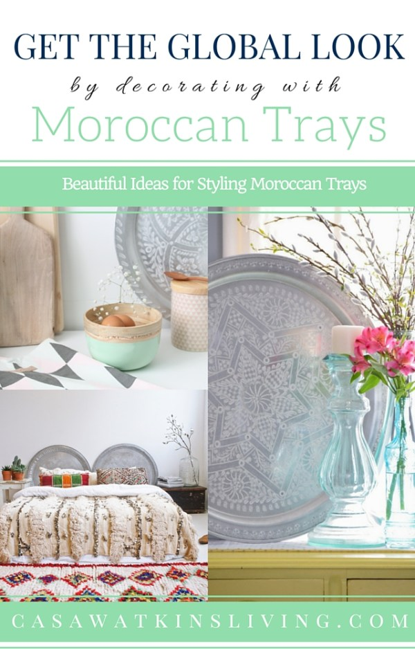 Love these ideas for using moroccan trays! Now, I need to find some.