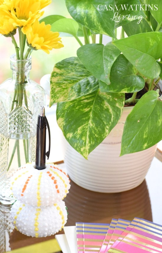 DIY-Pom-Pom-Inspired-Pen-Holder-Made-With-Vase-Filler-Sea-Urchins-Tutorial (1)