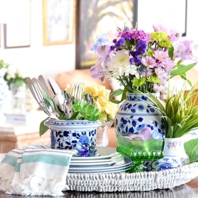 How To Decorate For Spring: Kitchen Tray Vignette