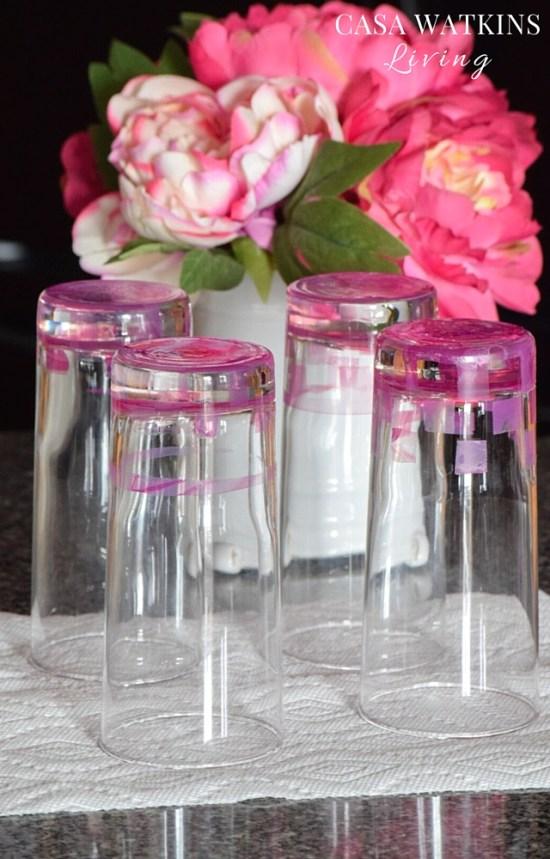 DIY-Tile-Pink-Marbled-Glasses-Tutorial