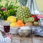 Use Moroccan Hammam bowls and woven trays for centerpiece