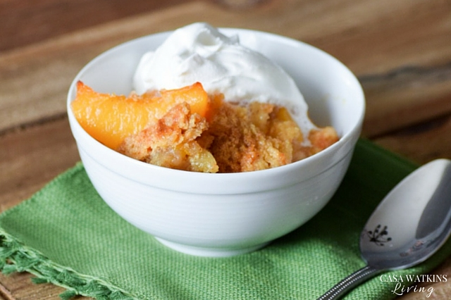 The best peach cobbler recipe!