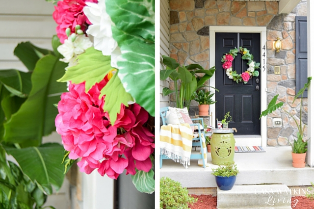 Tropical, global porch styling for summer