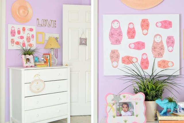 DIY nesting doll canvas art