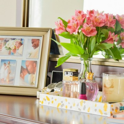 DIY Paint Stroke Tray Makeover