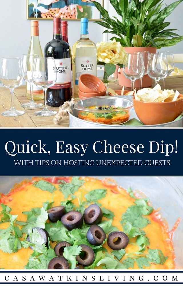 mmm! Yes to this super quick cheese and salsa dip!