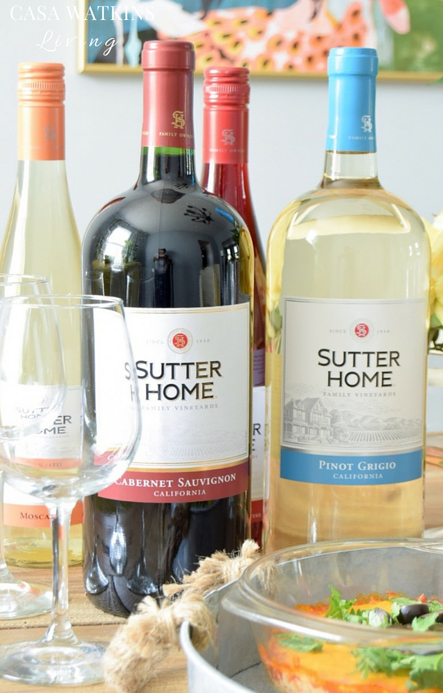 Stock on red and white wine from Sutter Home for when guests drop by