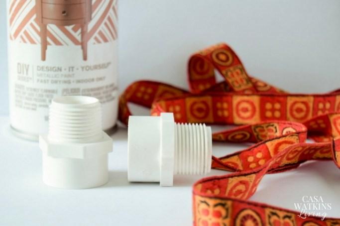 how to make diy pvc pipe napkin rings