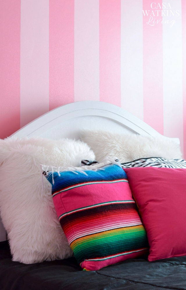Pink painted girl's room