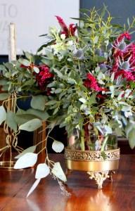 Fall floral arrangement Scotch and Nonsense