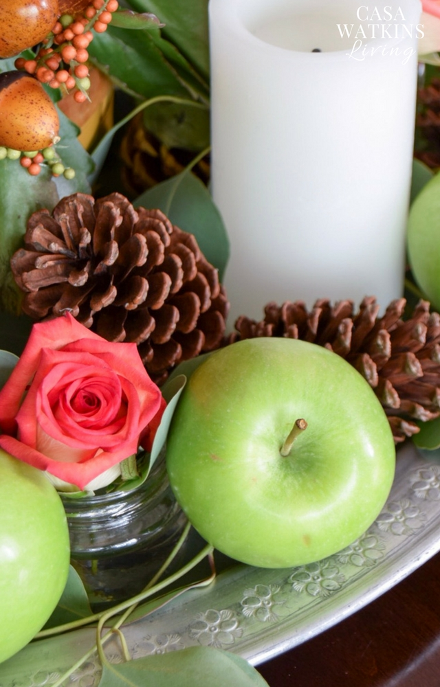 Use apples for fall centerpiece