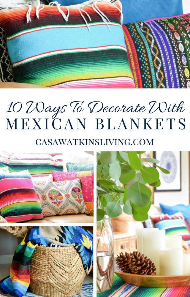 10 ways to decorate with Mexican blankets